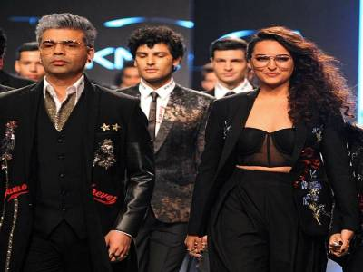 Karan Johar And Sonakshi Sinha Walk The Ramp Together Before Their Film Release!