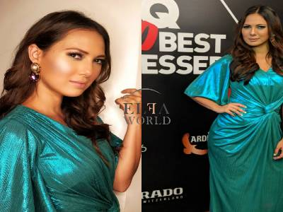 Rochelle In An Interesting Metallic No. At The GQ Best Dressed Awards 2018!