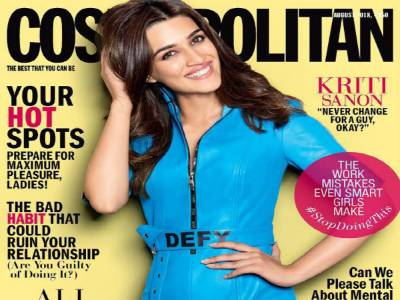 Kriti Sanon Defies All Odds On The Cover Of Cosmopolitan!