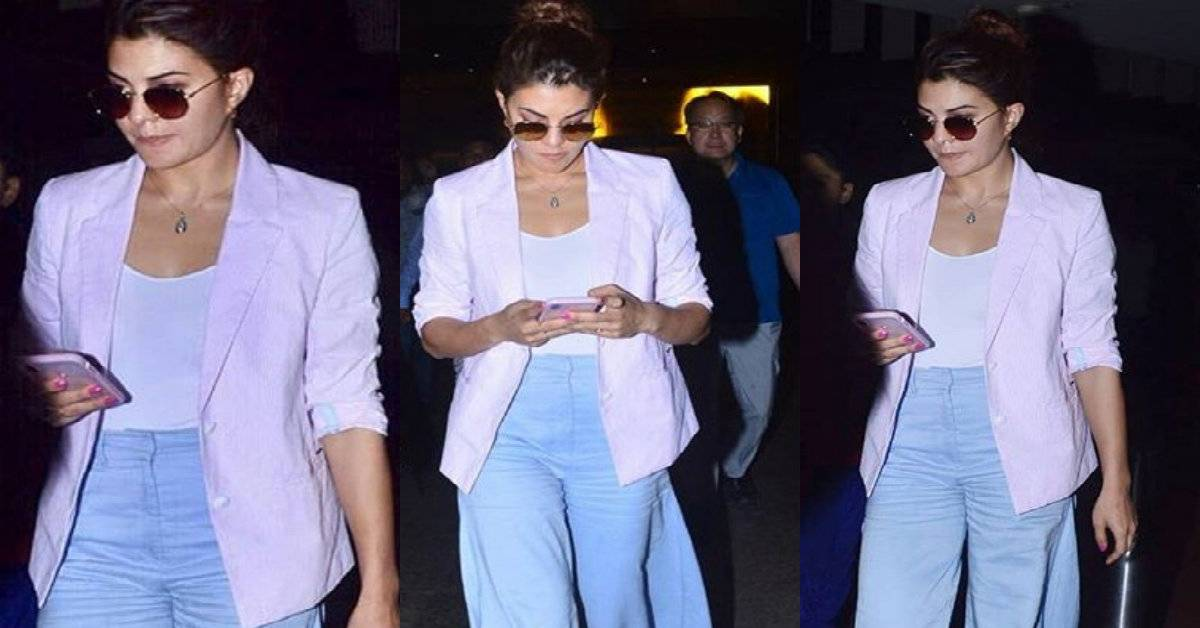 Jacqueline Fernandez Gives A Retro Twist To A Corporate Look!