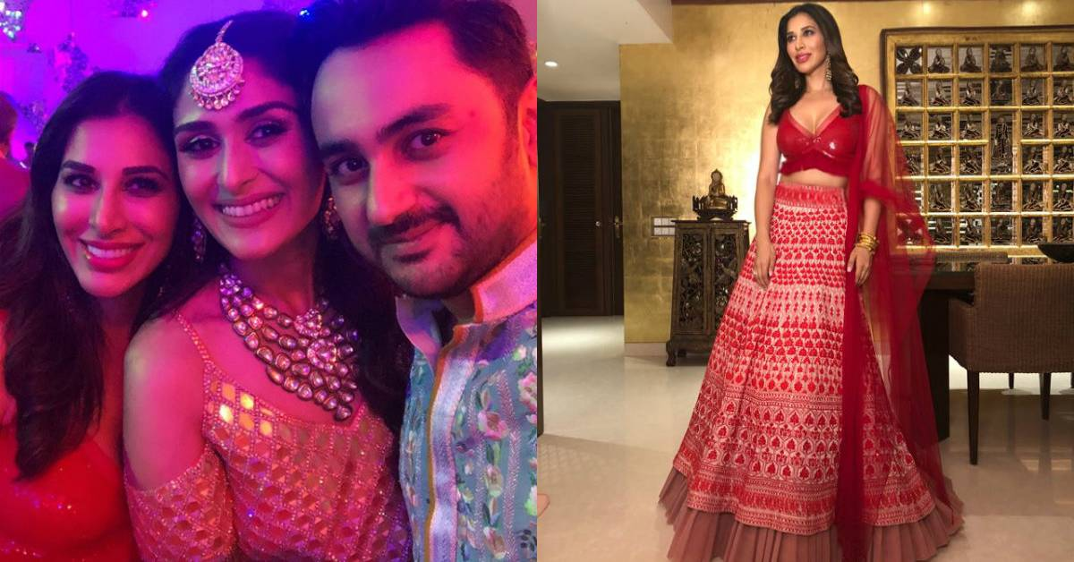 Sophie Looks Resplendent In Manish Malhotra's Outfit For BFF Poorna Patel's Sangeet!