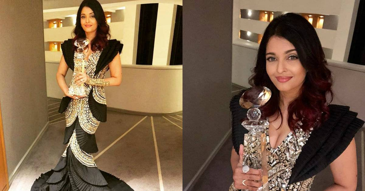 Aishwarya Rai Bachchan Shines In Her Shimmering Black And Gold Outfit At The WIFT Awards!