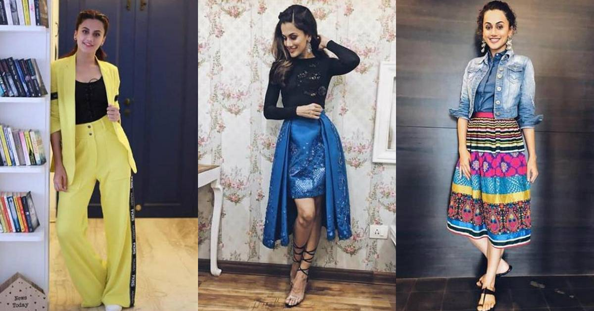 Taapsee Likes To Conceptualize Her Promotional Looks Based On Her Looks In Her Films!