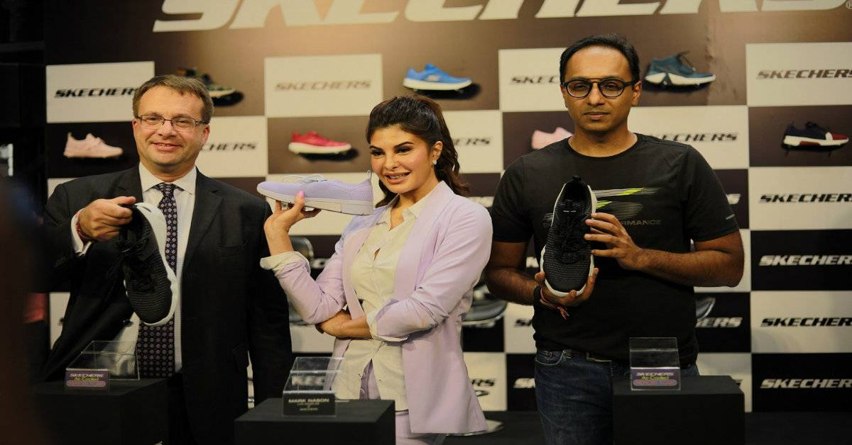 Skechers Launches Largest Store In India With Jacqueline Fernandez And Edgard Kagan!