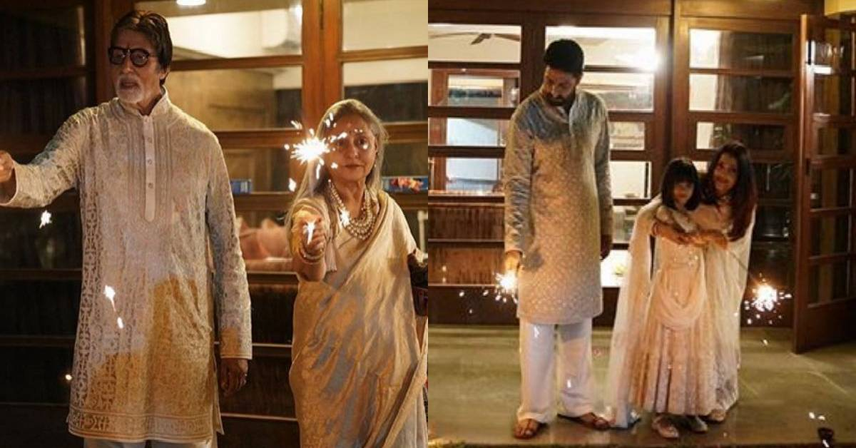 Diwali 2018: The Bachchans Pose For A Lovely Diwali Picture As They Kickstart The Festive Occasion!
