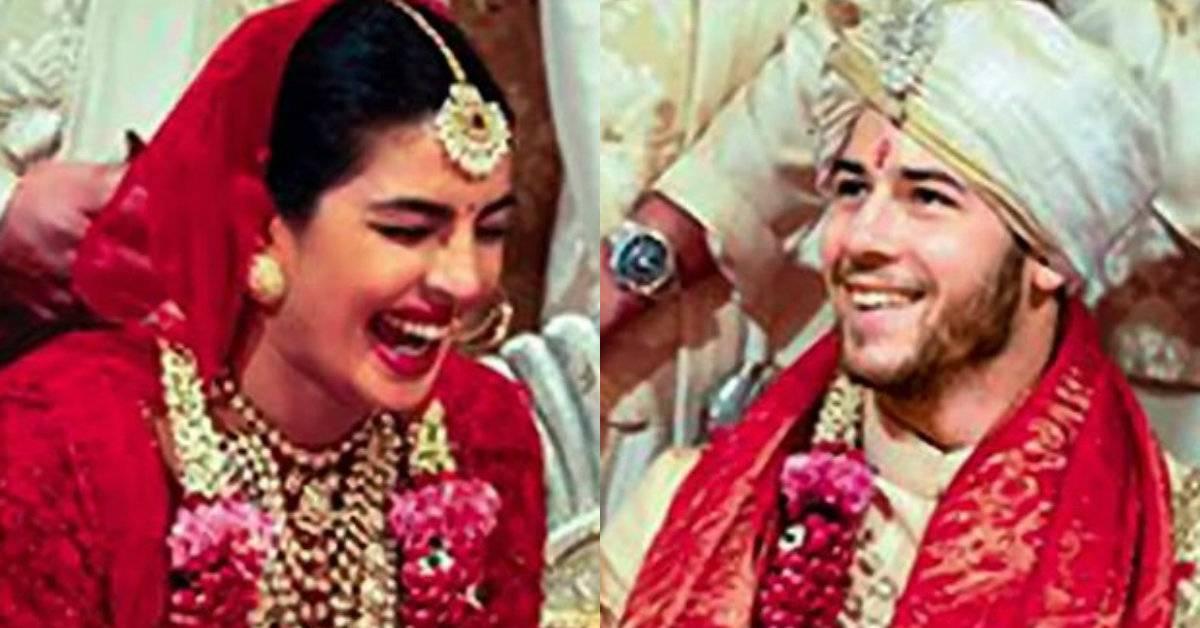 3ba28ad90 NickYanka Wedding: The Bride Priyanka Chopra's Lehenga Had The Name Of Her  Parents Inscribed On Them!