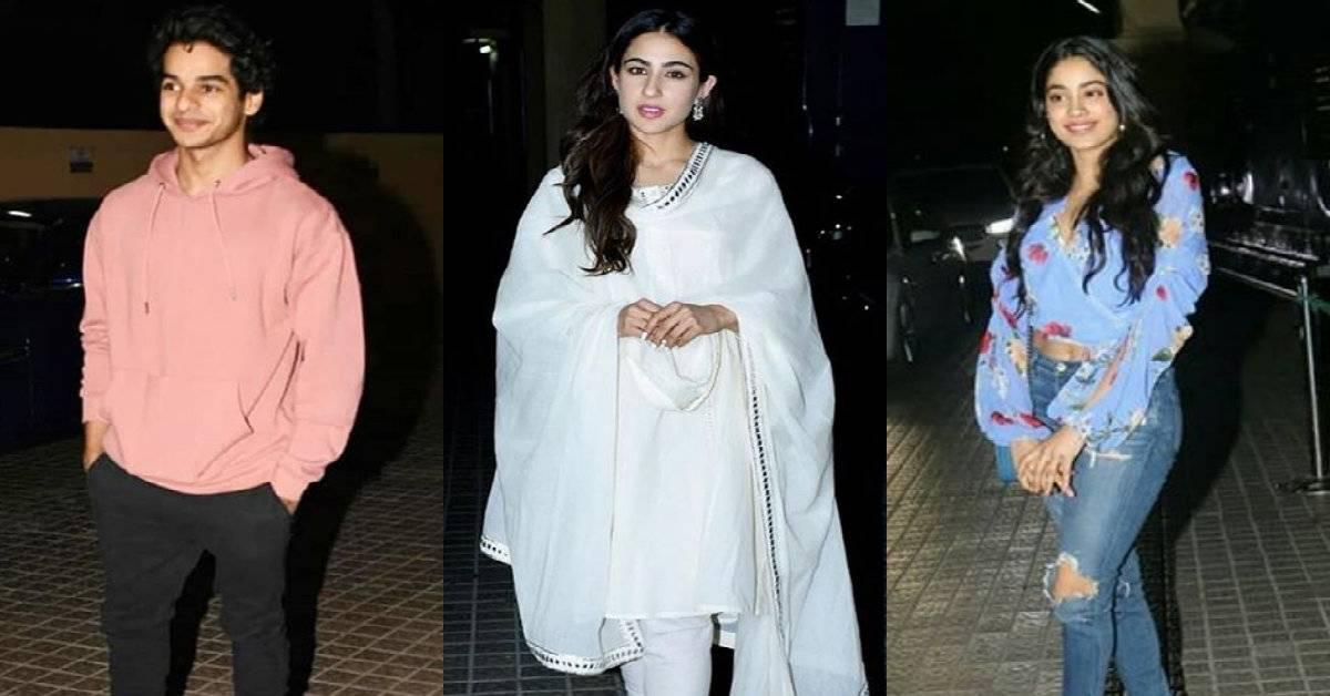Kedarnath Screening Sees A Star Studded Affair With Sara Ali Khan, Janhvi Kapoor, Ishaan Khatter, Ananya Panday Amongst Many In Attendance!