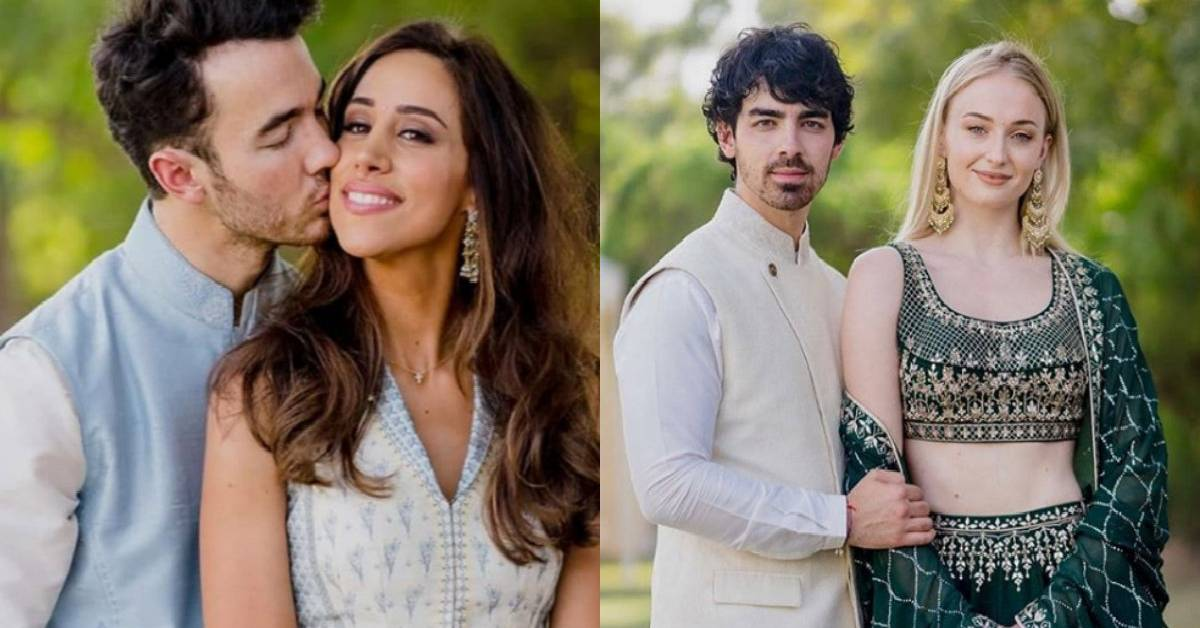 These Pictures Of Sophie Turner And Joe Jonas With Danielle Jonas And Kevin Jonas In Ethnic Outfits From The NickYanka Wedding Are Simply Stunning!