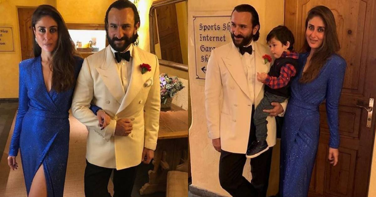 Saif Ali Khan And Kareena Kapoor Khan With Their Son Taimur Kickstart The New Year Upping Their Style Game!