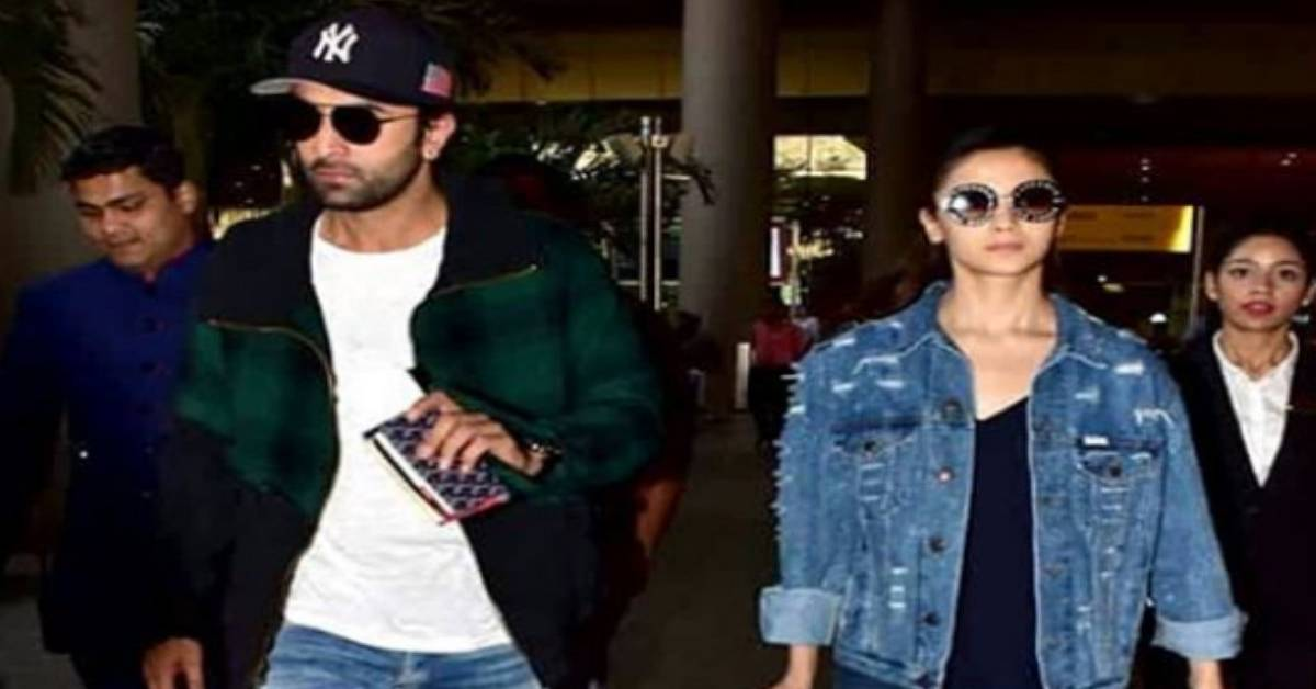 Ranbir Kapoor And Alia Bhatt Make Way For A Stylish Couple As They Return To Mumbai From Their New York Vacation!