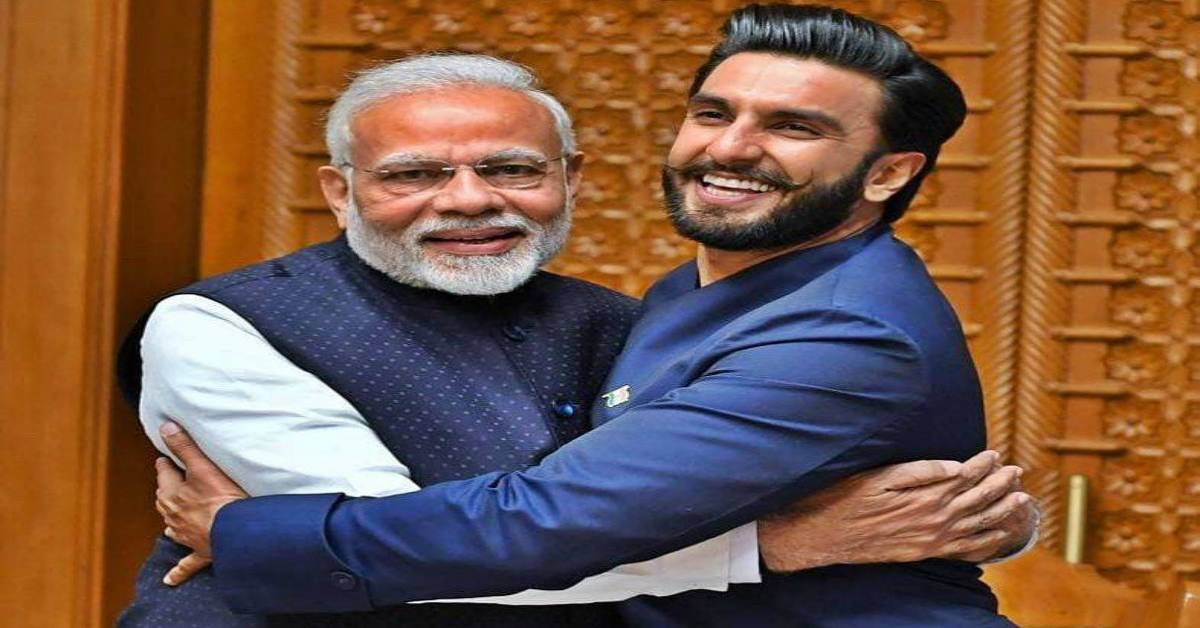 Ranveer Singh Is Elated On His Latest Post As He Shares A 'Jaadoo Ki Jhappi' With Prime Minister Narendra Modi!