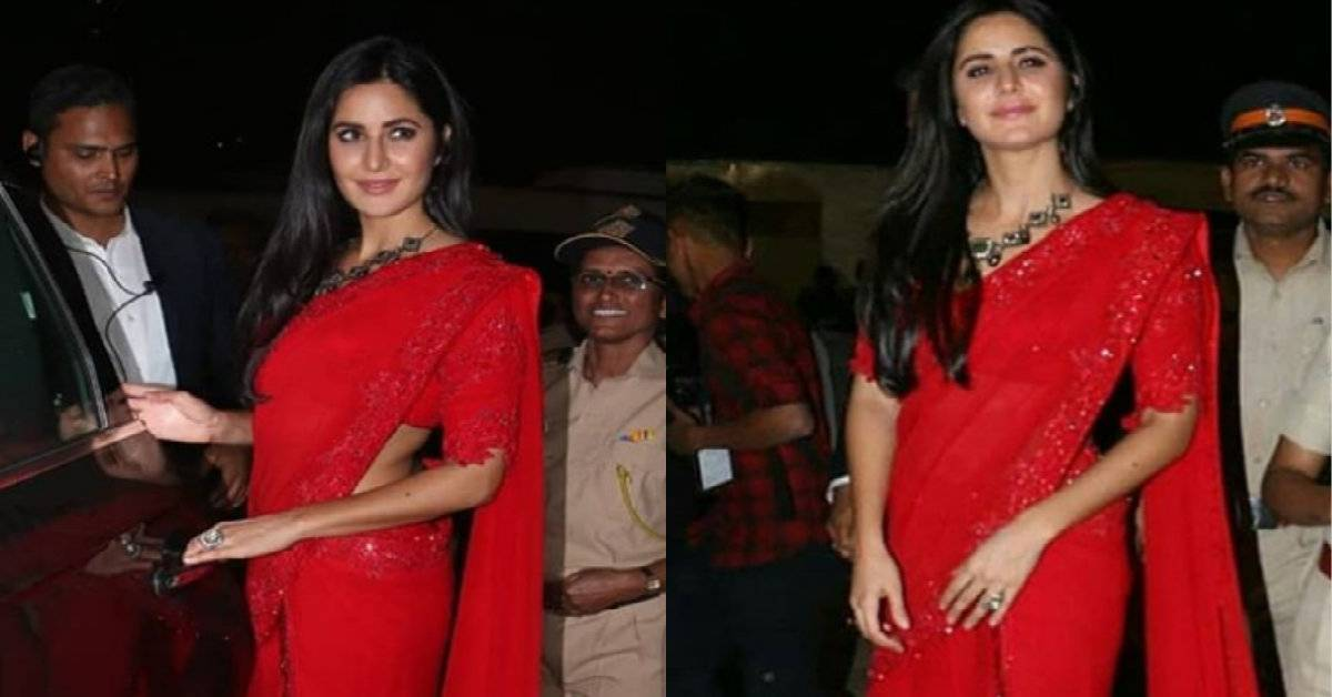 Umang 2019: Katrina Kaif Looks Super Hot In A Red Saree While She Shakes A Leg With Host Maniesh Paul!