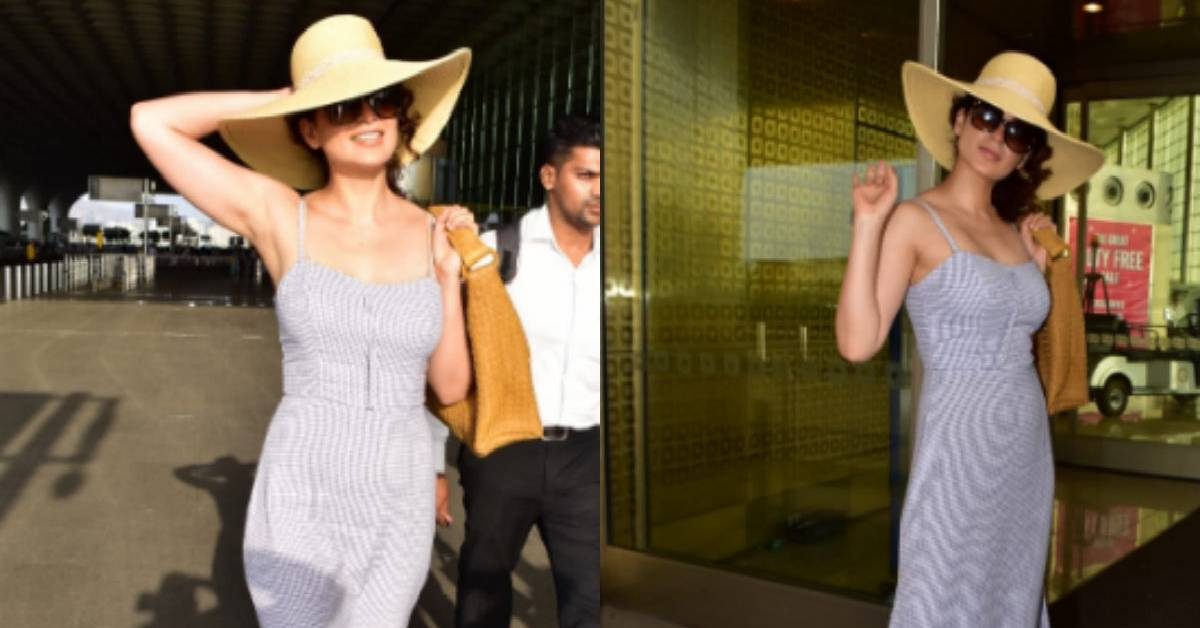Kangana Ranaut Is Giving Us Some Major Summer Vibes In This Latest Airport Look Of Hers!