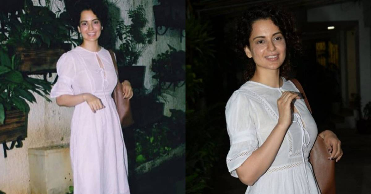 Kangana Ranaut Is A Vision In White As She Attends Her Dubbing Session For Mental Hai Kya!