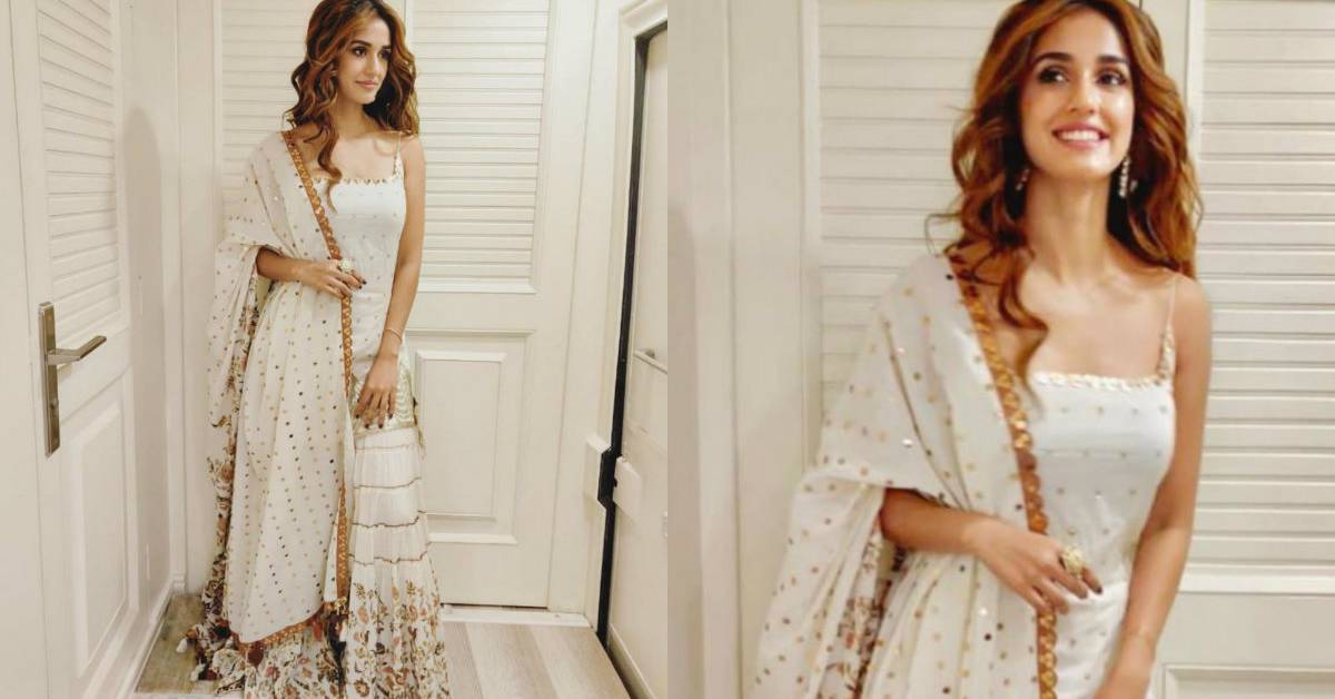 Disha Patani Sizzles In White, Shares Pictures From Muhrat Pooja For Radhe!